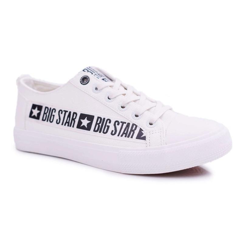 Trampki Męskie Big Star Białe EE174070