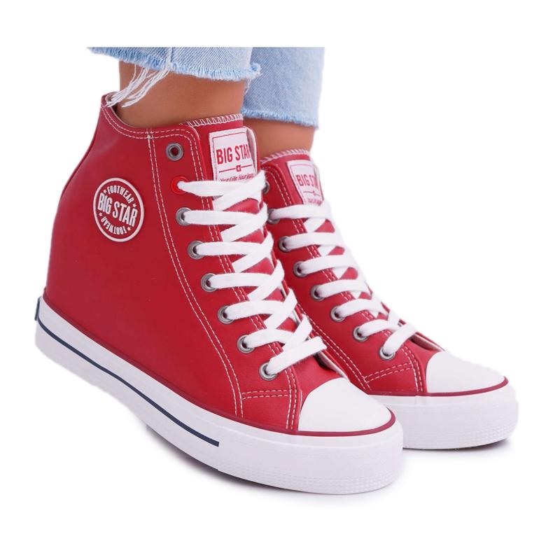 Sneakersy Damskie Big Star Czerwone EE274614