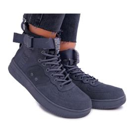 Sneakersy Damskie Trampki Szare Big Star EE274661