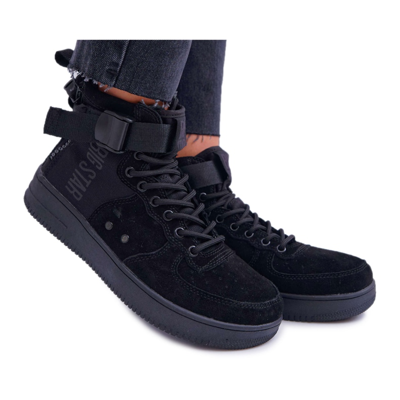Sneakersy Damskie Trampki Czarne Big Star EE274662