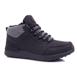 Męskie Buty Trekkingowe Cross Jeans Czarne EE1R4113C