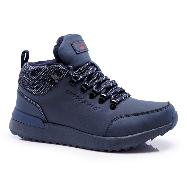 Męskie Buty Trekkingowe Cross Jeans Granatowe EE1R4115C