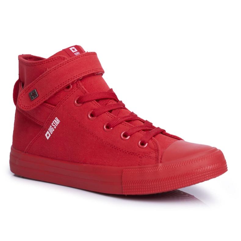 Trampki Damskie Big Star Czerwone FF274580