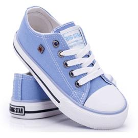 Trampki Dziecięce Big Star Niebieskie FF374203