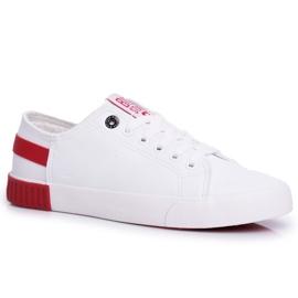 Damskie Trampki Big Star Białe FF274174 czerwone