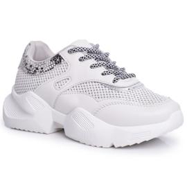 PS1 Sportowe Damskie Buty Wężowe Szare Giselle