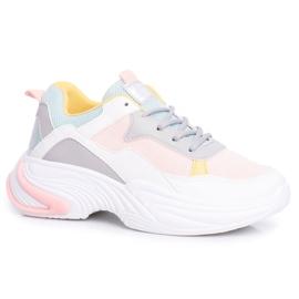 PS1 Sportowe Damskie Buty Kolorowe Różowe Pinner białe wielokolorowe