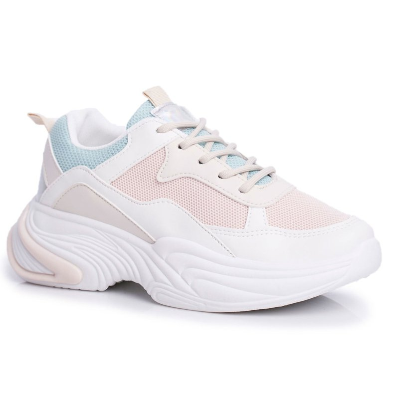 PS1 Sportowe Damskie Buty Kolorowe Beżowe Pinner białe brązowe wielokolorowe