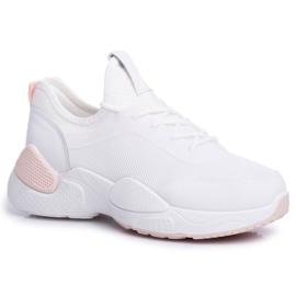 BUGO Sportowe Damskie Buty Różowo Białe Fellen