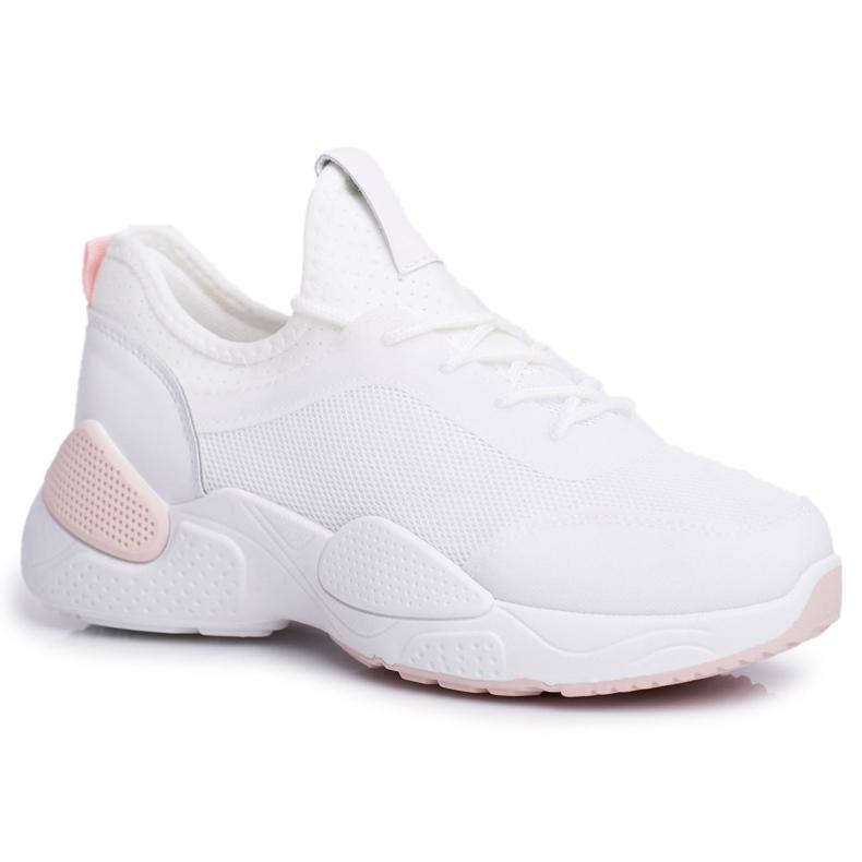 BUGO Sportowe Damskie Buty Różowo Białe Fellen różowe