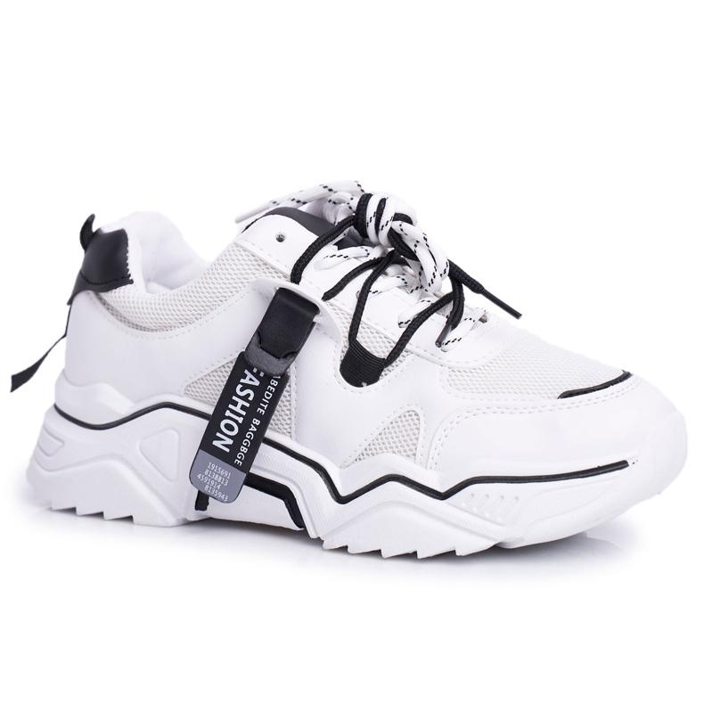 BUGO Sportowe Damskie Buty Białe Elenis czarne