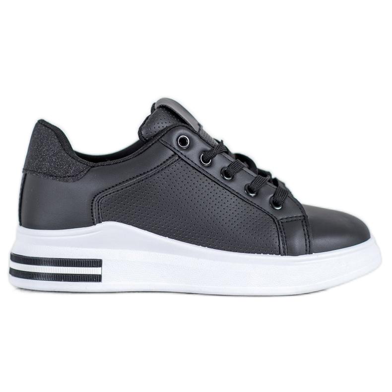 Weide Sneakersy Z Eko Skóry czarne