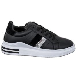 SHELOVET Stylowe Sneakersy czarne
