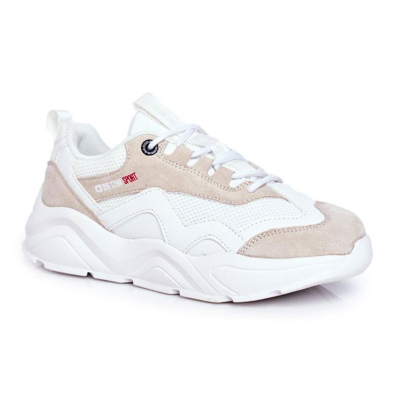 Damskie Sportowe Obuwie Sneakersy Big Star Białe FF274958