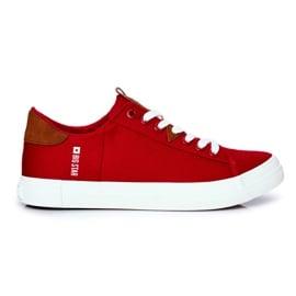 Trampki Męskie Big Star Czerwone FF174315