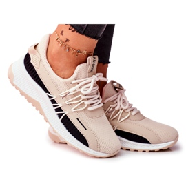 BUGO Sportowe Damskie Buty Sneakersy Beżowe Pamela beżowy