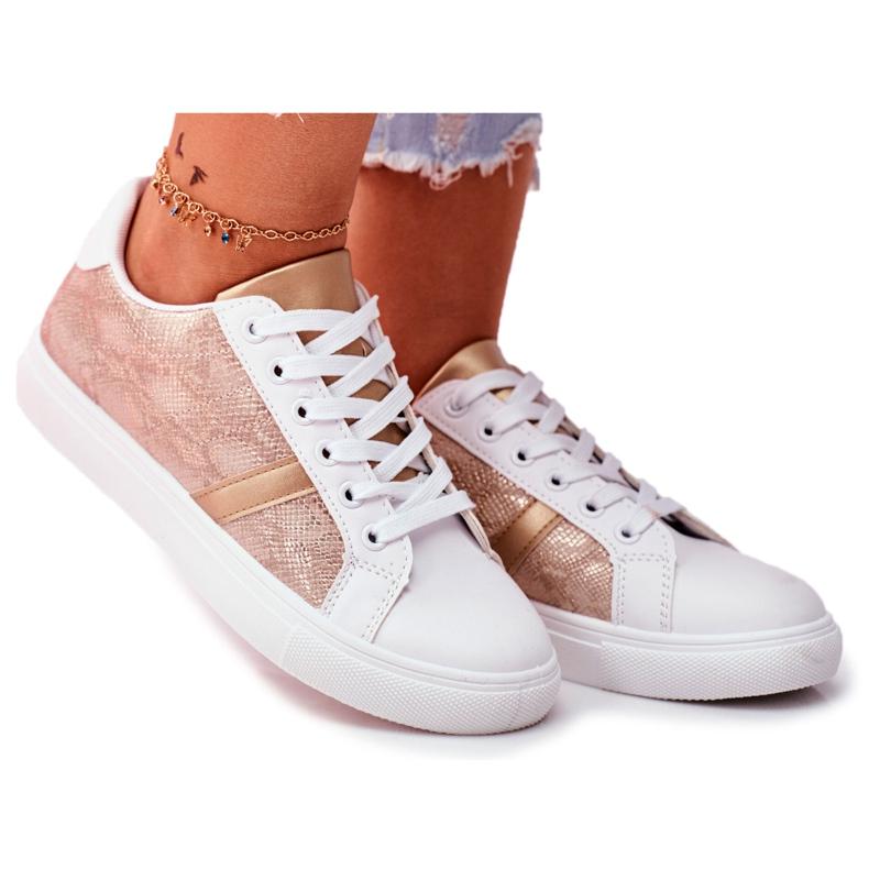 Damskie Sportowe Buty Eleganckie Białe Poppy