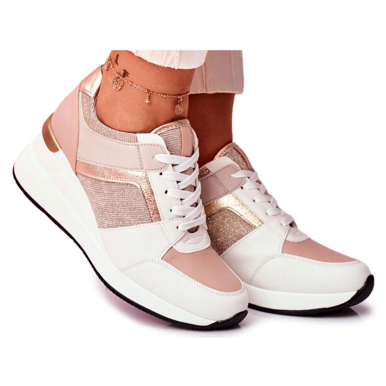 Moow Sportowe Damskie Buty Sneakersy Biało Różowe Dillion białe wielokolorowe żółte