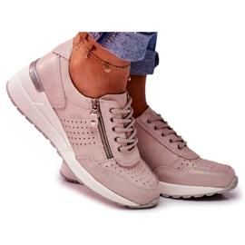 Vinceza Sportowe Damskie Buty Sneakersy Skórzane Beżowe FT20-8675 Better Way beżowy
