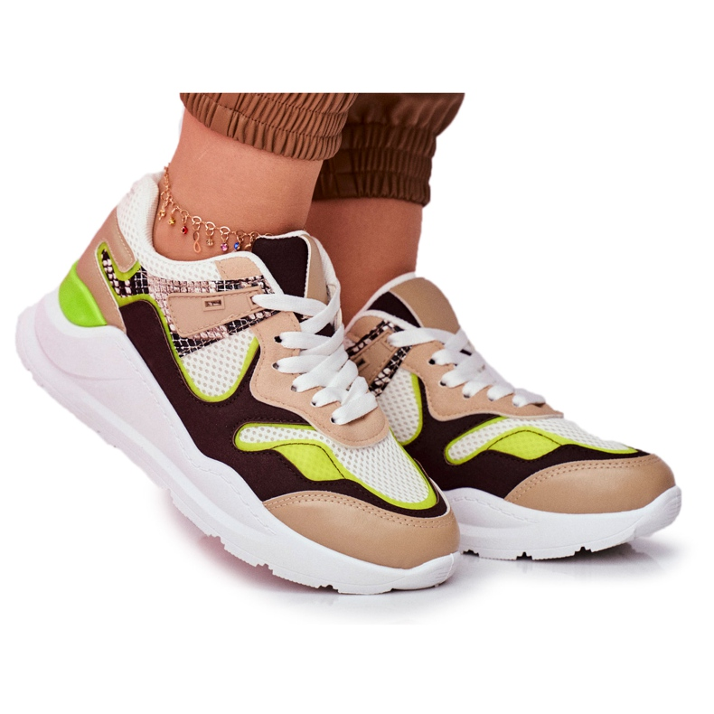 PS1 Sportowe Damskie Buty Sneakersy Białe Freak brązowe wielokolorowe