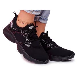 Damskie Sportowe Obuwie Sneakersy Big Star Czarne FF274932