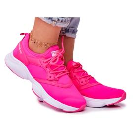 Damskie Sportowe Obuwie Sneakersy Big Star Neon Róż FF274931 różowe