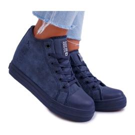 Sneakersy Damskie Big Star Granatowe EE274125