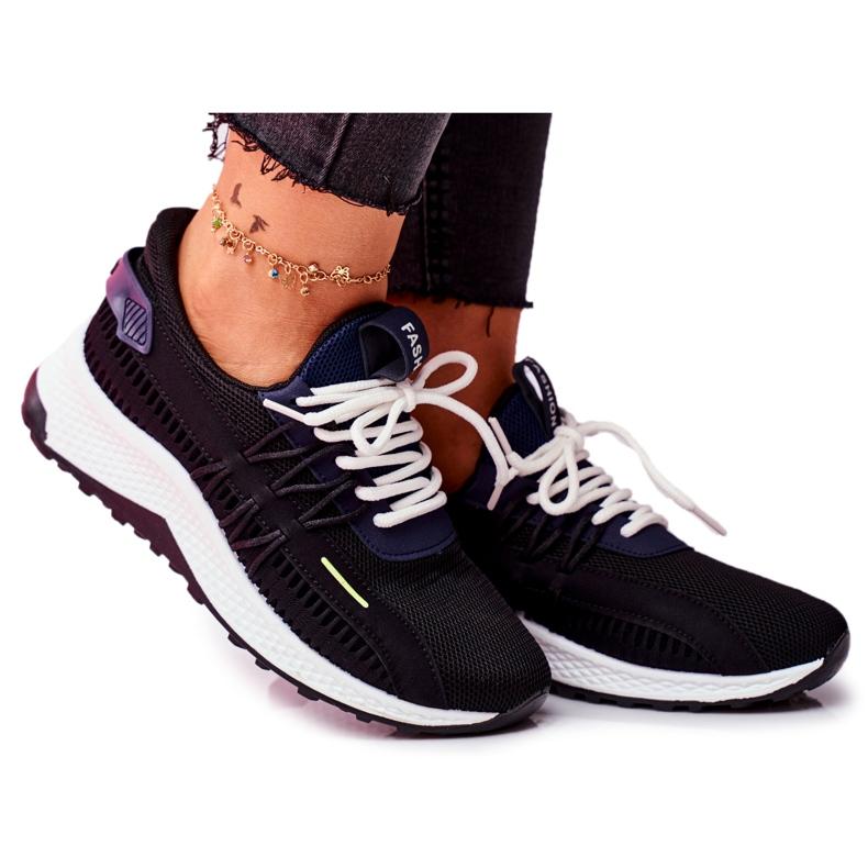 BUGO Sportowe Damskie Buty Sneakersy Czarne Pamela