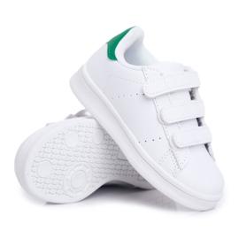 FRROCK Obuwie Sportowe Dziecięce Młodzieżowe Na Rzepy Białe Fifi zielone