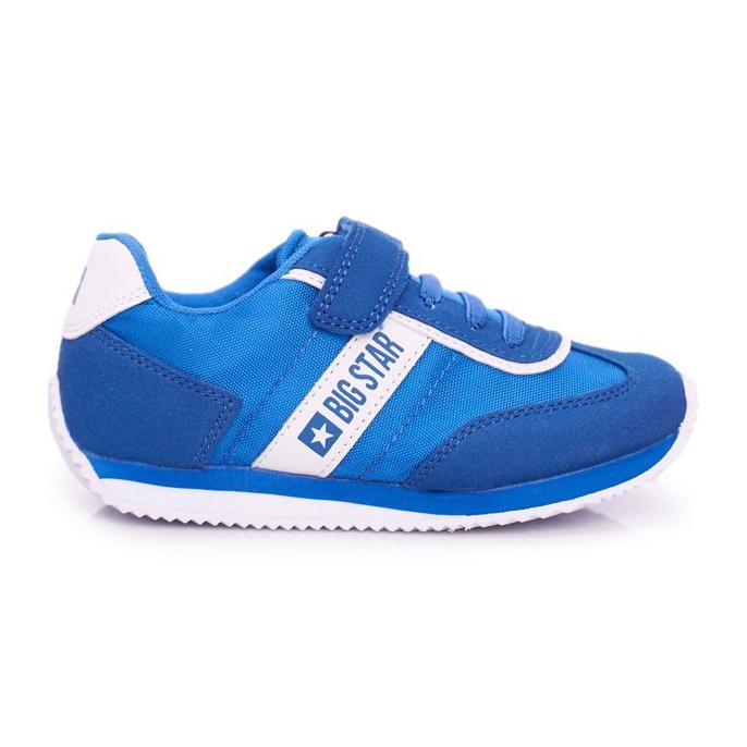 Sportowe Buty Dziecięce Big Star Na Rzepy Niebieskie FF374133
