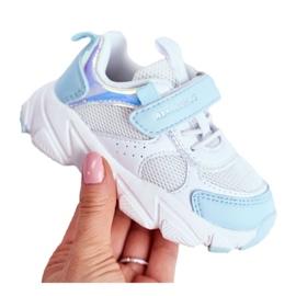Sportowe Buty Dziecięce Niebieskie ABCKIDS B011104349 białe