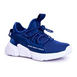 ABCKIDS POLAND Sp. z o.o. Sportowe Buty Dziecięce Młodzieżowe Granatowe Abckids B012210073