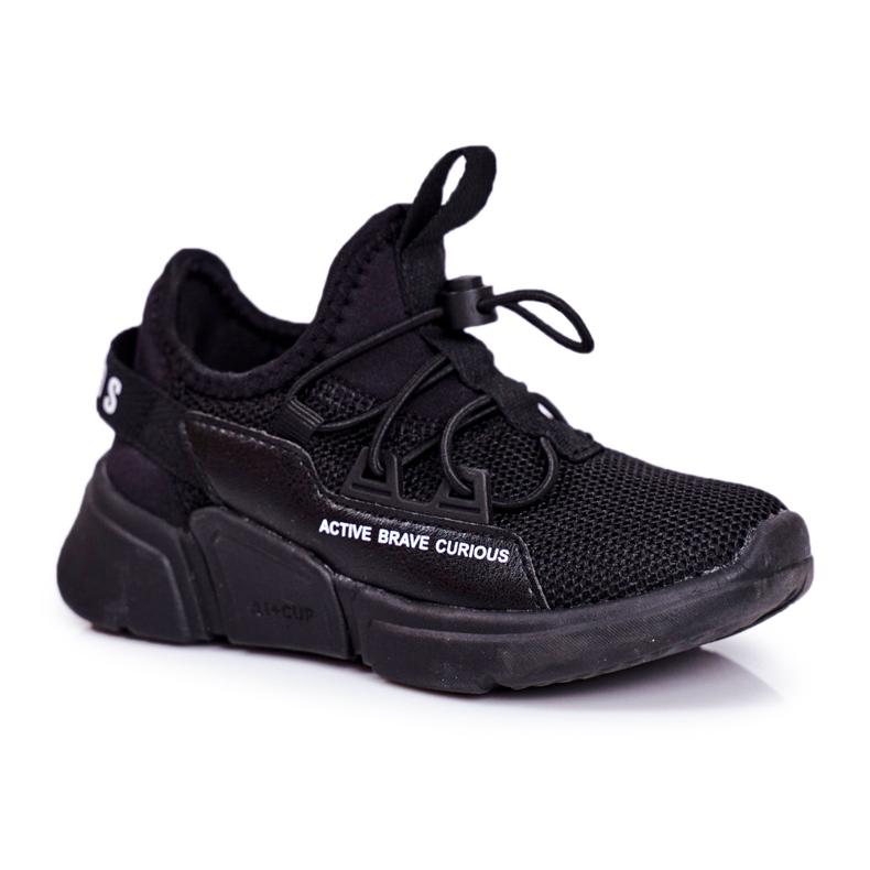 ABCKIDS POLAND Sp. z o.o. Sportowe Buty Dziecięce Młodzieżowe Czarne Abckids B012210073