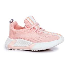 FRROCK Sportowe Buty Dziecięce Różowe Stich