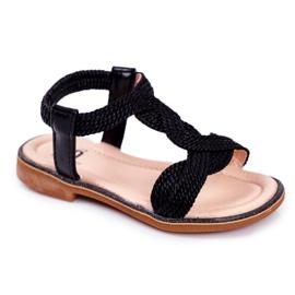 FRROCK Dziecięce Sandały Czarne Lamado
