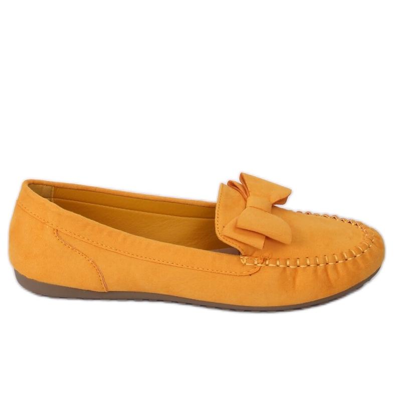 Mokasyny damskie miodowe B2020-6 Yellow żółte