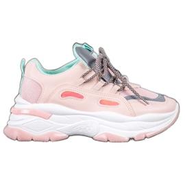 Small Swan Sportowe Sneakersy różowe