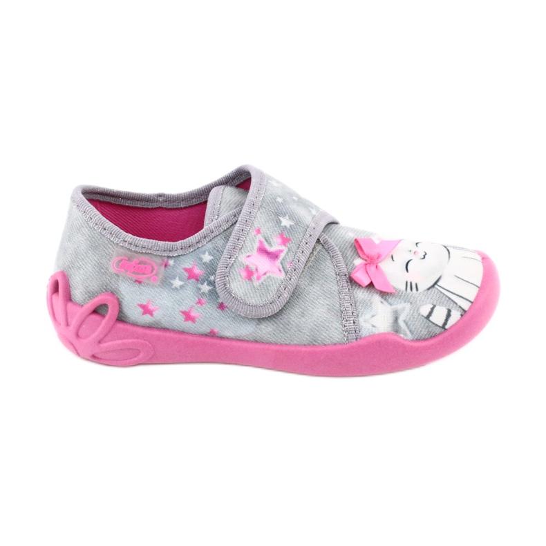 Befado obuwie dziecięce 122X002 różowe szare