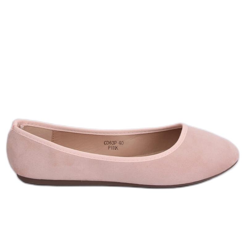 Baleriny gładkie różowe CD63P Pink
