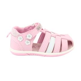 Sandałki dziewczęce American Club DR16/20 białe różowe