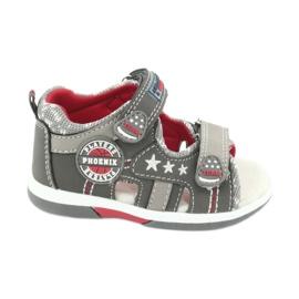 Sandałki chłopięce American Club DR15/20 białe czerwone szare
