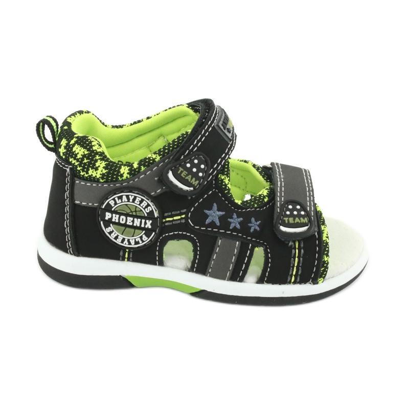 Sandałki chłopięce American Club DR15/20 czarne szare zielone
