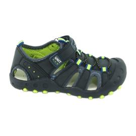 Sandałki chłopięce American Club DR04/20 granatowe zielone
