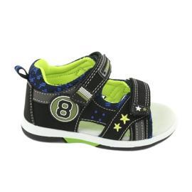 Sandałki osiem American Club DR14/20 czarne niebieskie szare zielone