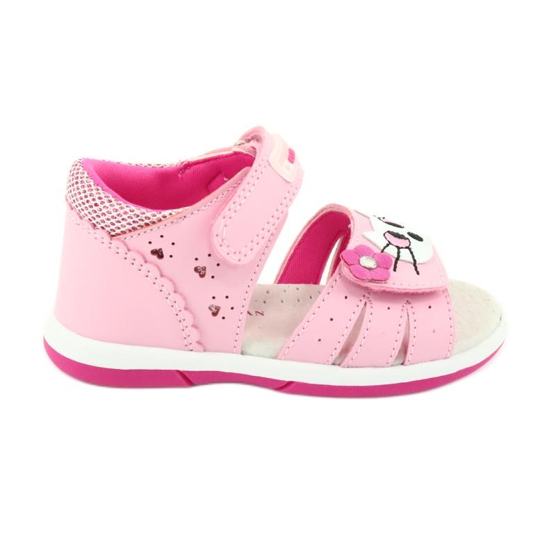 Sandałki dziewczęce kotek American Club DR22/20 różowe