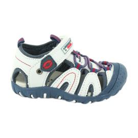 Sandałki chłopięce rzep American Club DR08/20 białe czerwone niebieskie