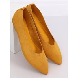 Baleriny damskie miodowe NK19P Yellow żółte