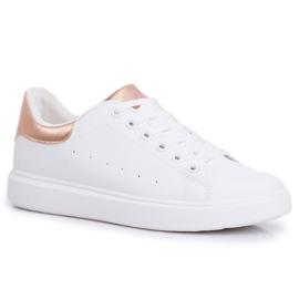 SEA Sportowe Damskie Buty Białe z Zapiętkiem Champagne Milly różowe