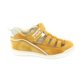 Sandałki chłopięce rzep American Club GC12/20 wielokolorowe żółte