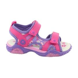 Sandałki dziewczęce łączka American Club HL17/19 fioletowe różowe